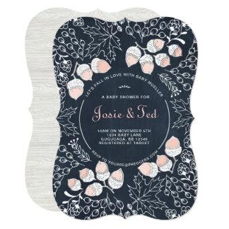 Fall Woodland Baby Shower Invitation