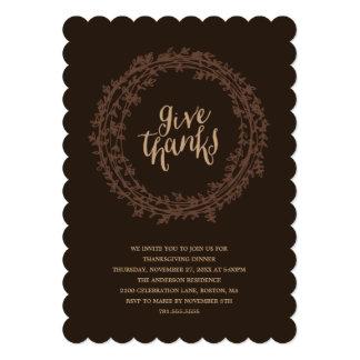 Fall Wreath   Thanksgiving Dinner Invitation