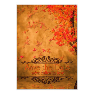 FALLen In Love Save The Date Card