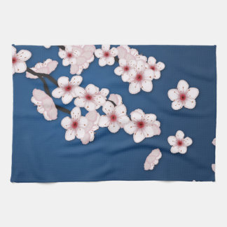 Falling Cherry Blossoms Kitchen Towels