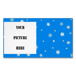 FALLING SNOW ~.jpg Magnetic Business Card
