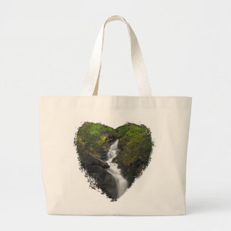 Falling Through Foliage; No Text Large Tote Bag