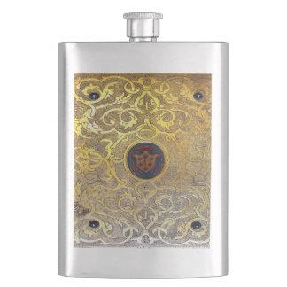 Falln Antique Golden Swirls Hip Flask