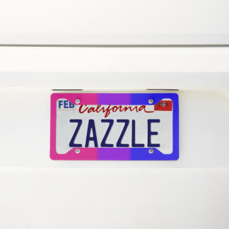 Falln Bisexual Pride Flag Licence Plate Frame