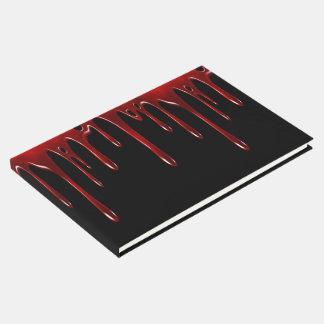 Falln Blood Drips Black Guest Book