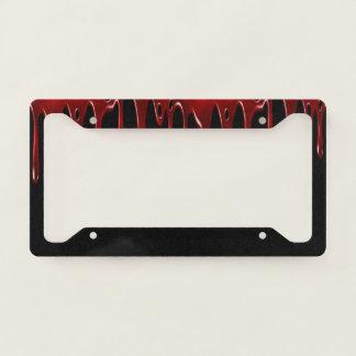 Falln Blood Drips Black Licence Plate Frame