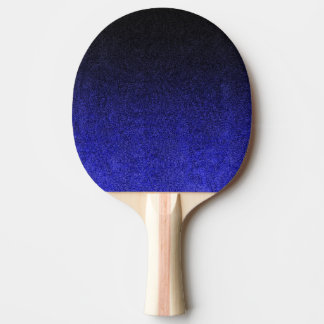Falln Blue & Black Glitter Gradient Ping Pong Paddle