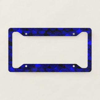 Falln Dark Blue Mermaid Scales Licence Plate Frame