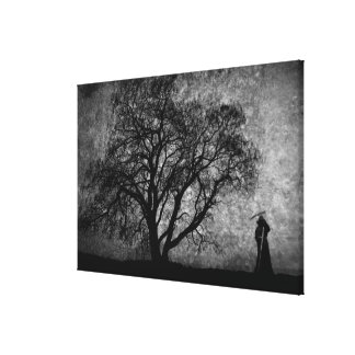 Falln Grim Reaper Original Art Boundaries Between Canvas Print
