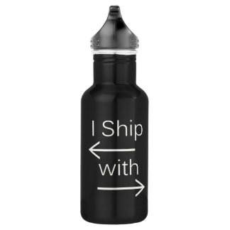 Falln I Ship It (You Choose Background Color!) 532 Ml Water Bottle