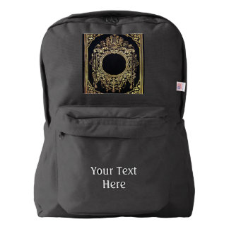 Falln Ornate Gold Frame (Perfect for a Monogram!) Backpack
