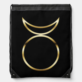 Falln Pagan Horned God Symbol Drawstring Bag