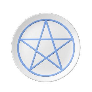 Falln Pagan Pentacle Plate
