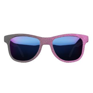 Falln Pink & Black Glitter Gradient Sunglasses