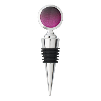 Falln Pink & Black Glitter Gradient Wine Stopper
