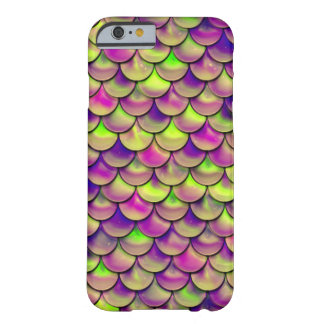Falln Purple and Green Scales Barely There iPhone 6 Case
