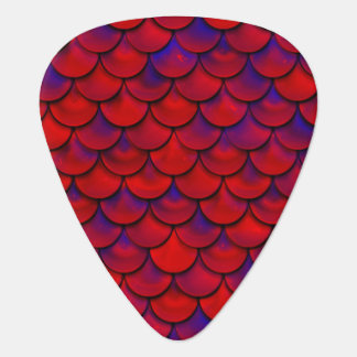 Falln Red and Purple Scales Plectrum