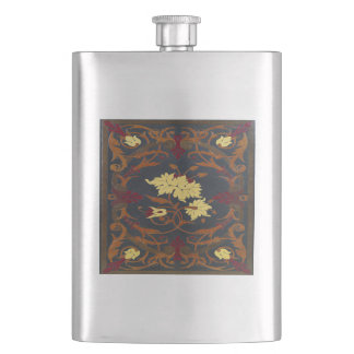 Falln Victorian Vines Book Hip Flask
