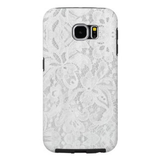 Falln White Lace Samsung Galaxy S6 Cases