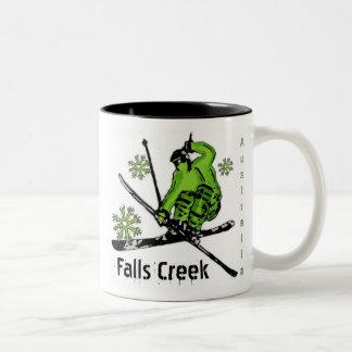 Falls Creek Australia green theme ski mug