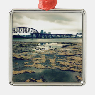 Falls of the Ohio Fossil Beds at Dusk Christmas Ornament