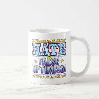 False Optimism Hate Face Basic White Mug