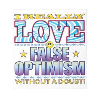 False Optimism Love Face Notepads