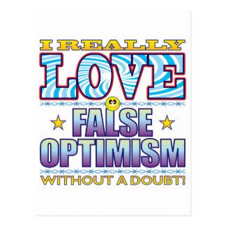 False Optimism Love Face Postcard