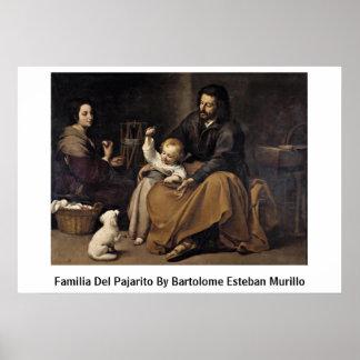 Familia Del Pajarito By Bartolome Esteban Murillo Poster