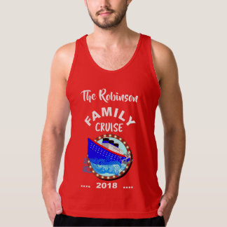 Family Cruise Vacation Cruise Ship Personalized Singlet