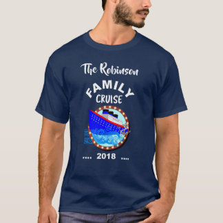 Family Cruise Vacation Cruise Ship Personalized T-Shirt