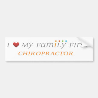 Family First Chiropractic Bumper Sticker
