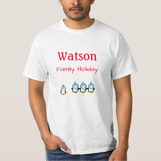 Family Holiday Shirt Penguin (cool weather) Edit