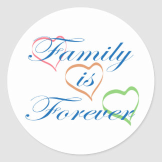 Family is Forever Round Sticker