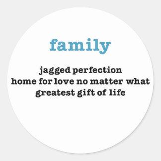 Family:  Love No Matter What Round Sticker