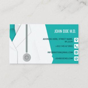 Family Medical Doctor Stethoscope Illustration Business Card