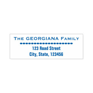 Family Name + Address + Oval Shapes Self-inking Stamp