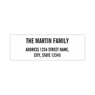 Family Name Bold Text Return Address Self-inking Stamp