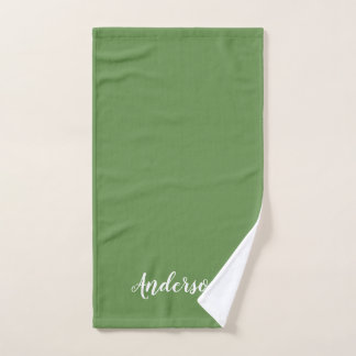 Family name hand towel, you choose color hand towel