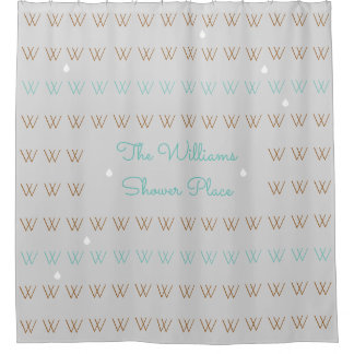 family name personalized shower-place stylish shower curtain