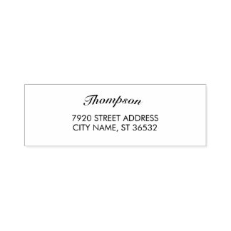 Family Name Stylish Curved Text Self-inking Stamp