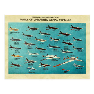 Family of unmanned aerial vehicles postcard
