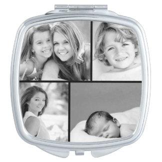 Family Photo Collage Makeup Mirror