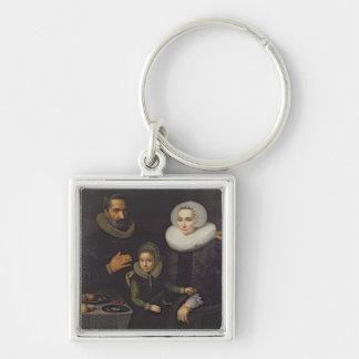 Family Portrait Key Ring