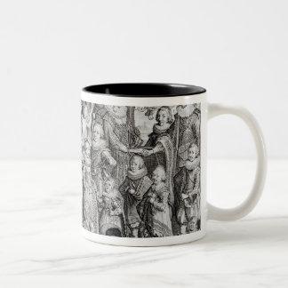 Family Portrait of James I of England Two-Tone Coffee Mug