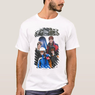 Family portrait with snowboards T-Shirt