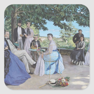 Family reunion, 1867 square sticker