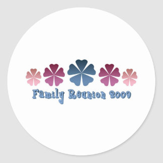 Family Reunion 2009 Classic Round Sticker
