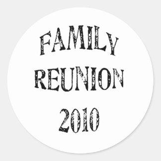 Family Reunion 2010 Round Stickers