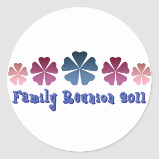 Family Reunion 2011 Round Sticker